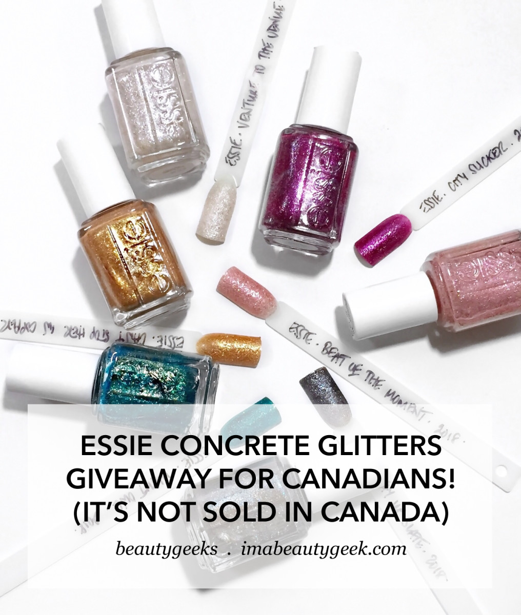 Essie Concrete Glitters giveaway for Canadians