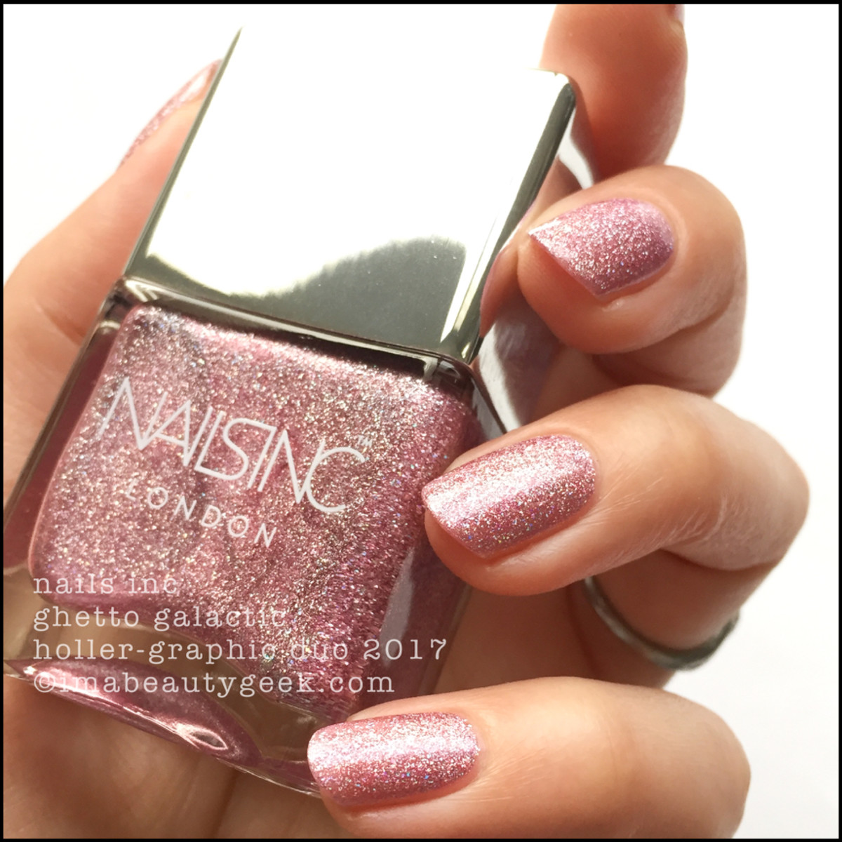 Nails Inc Ghetto Galactic Holler-Graphic Duo Swatches Review 2017 1