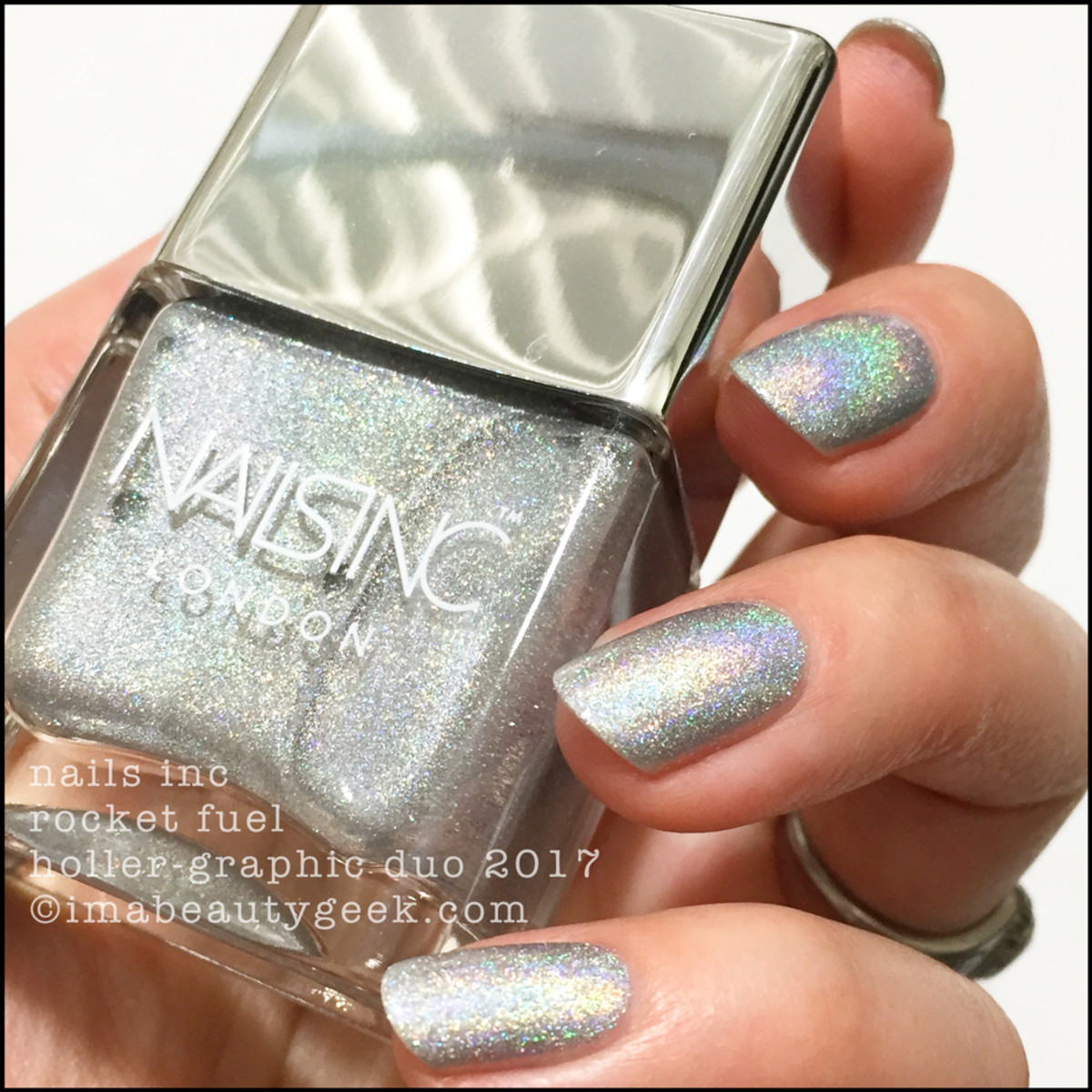 Nails Inc Rocket Fuel Holler-Graphic Duo Swatches Review 2017 1