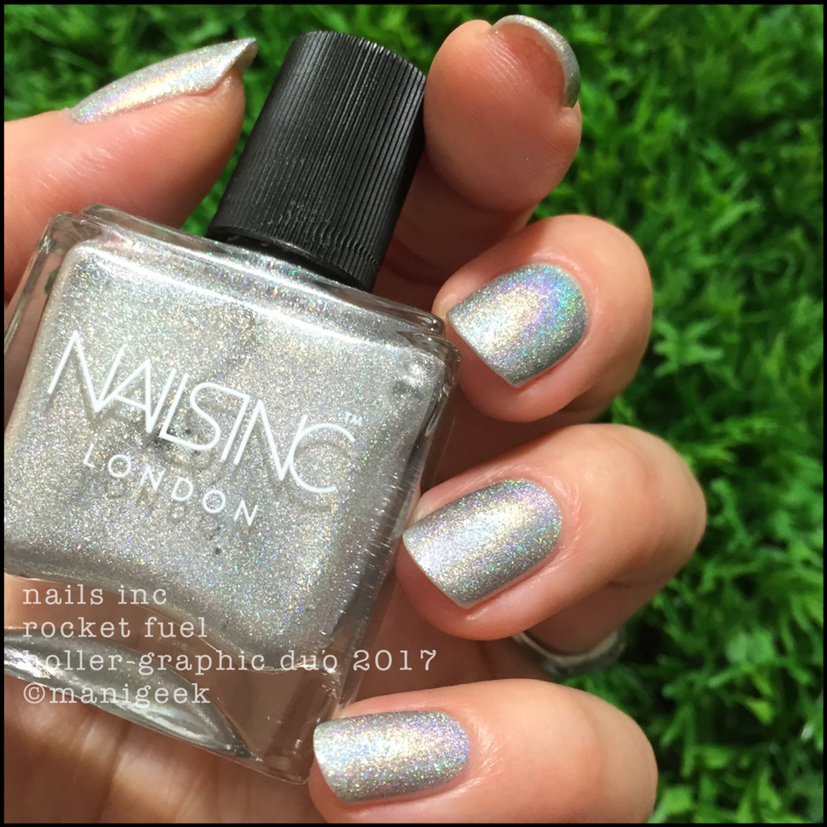 Nails Inc Rocket Fuel Holler-Graphic Duo Swatches Review 2017 2