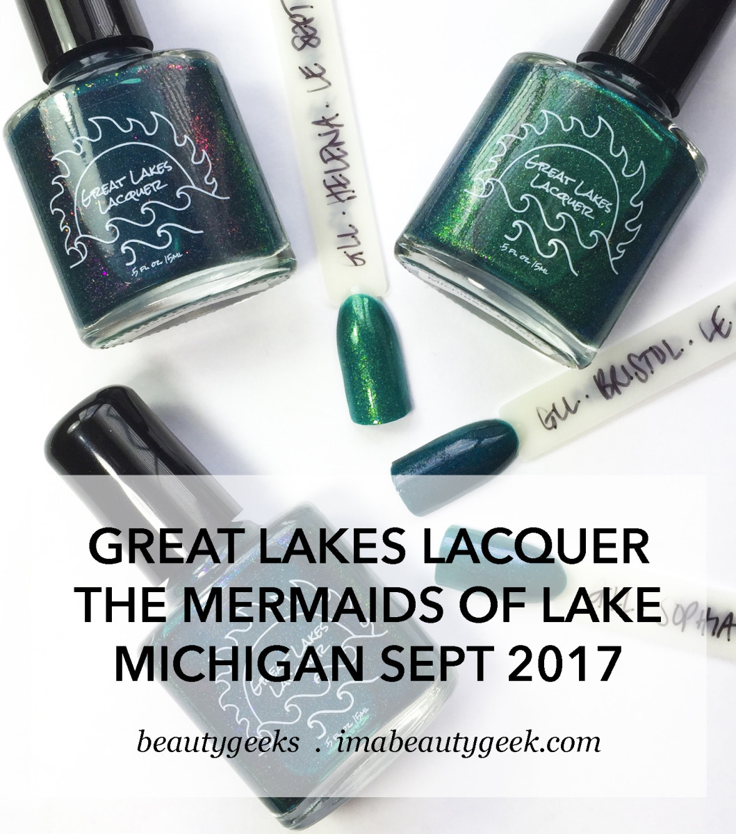 Great Lakes Lacquer Mermaids of Lake Michigan Sept 2017 swatches-BEAUTYGEEKS