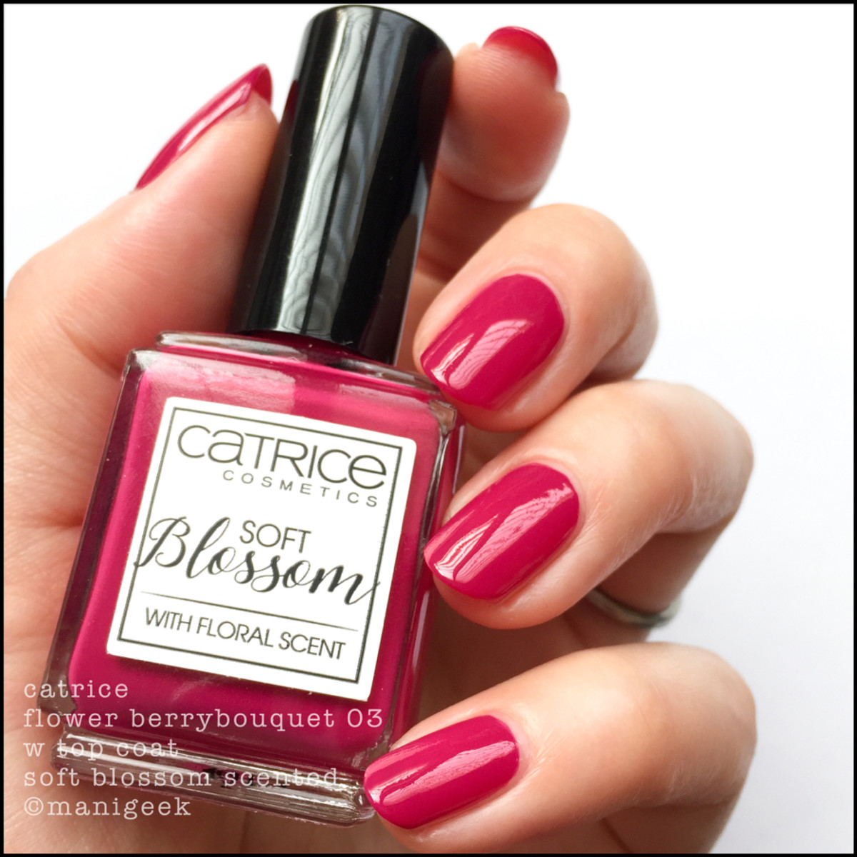 Catrice Flower Berrybouquet _ Catrice Soft Blossom Scented Nail Polish Swatches