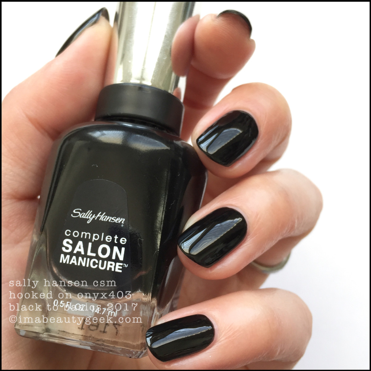 Sally Hansen Hooked on Onyx _ Sally Hansen Black to Basics Collection Swatches 2017