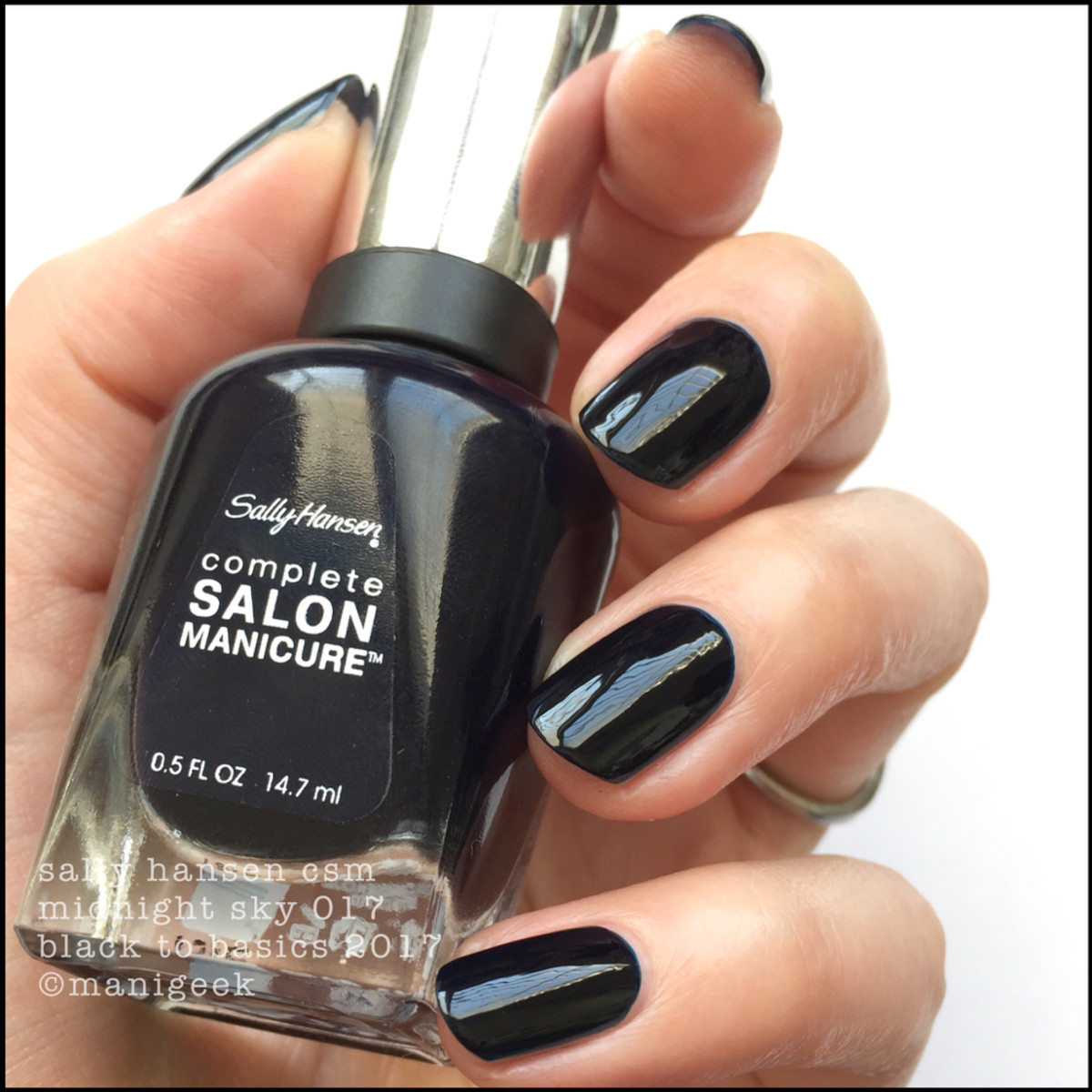 Sally Hansen Midnight Sky _ Sally Hansen Black to Basics Collection Swatches 2017