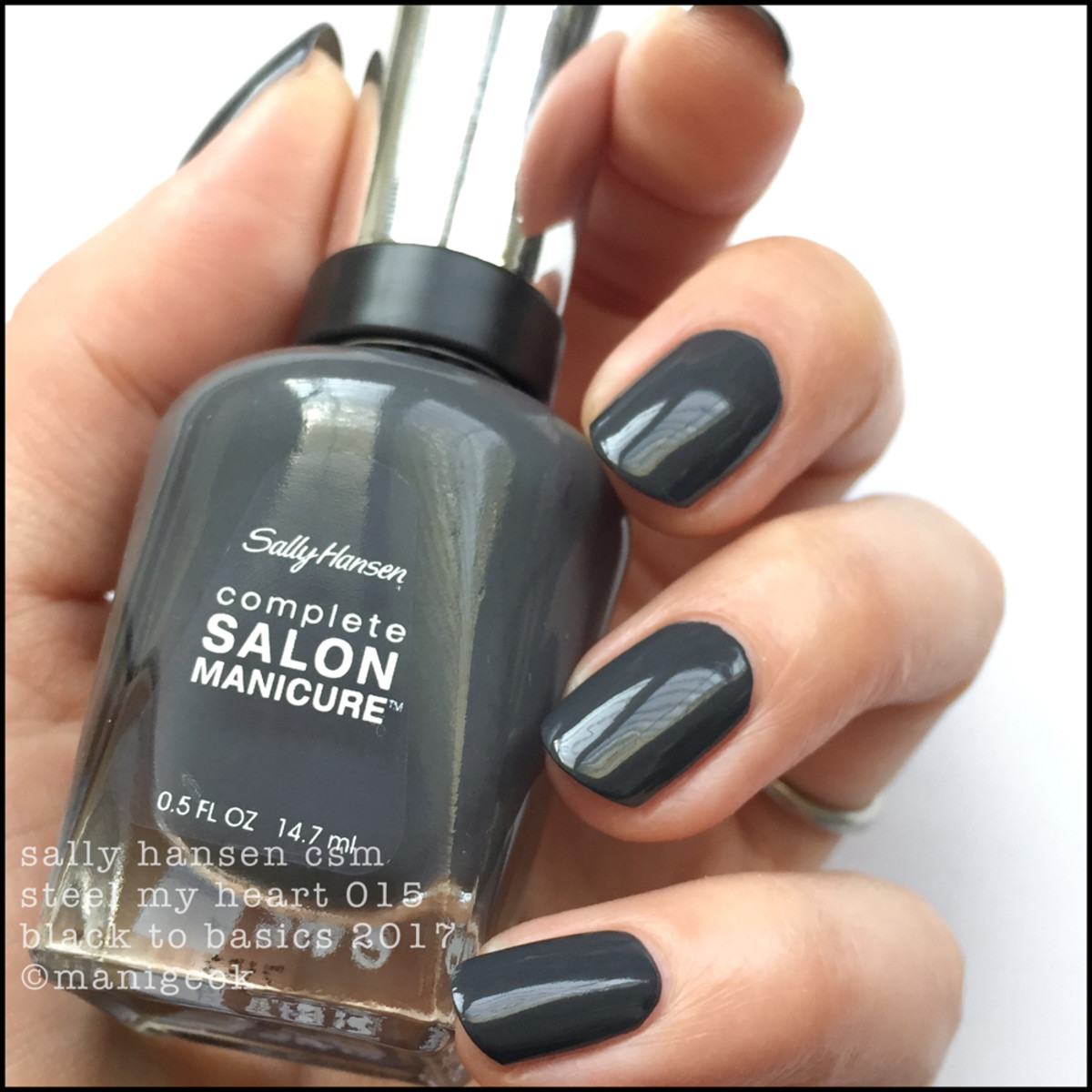 Sally Hansen Steel My Heart _ Sally Hansen Black to Basics Collection Swatches 2017