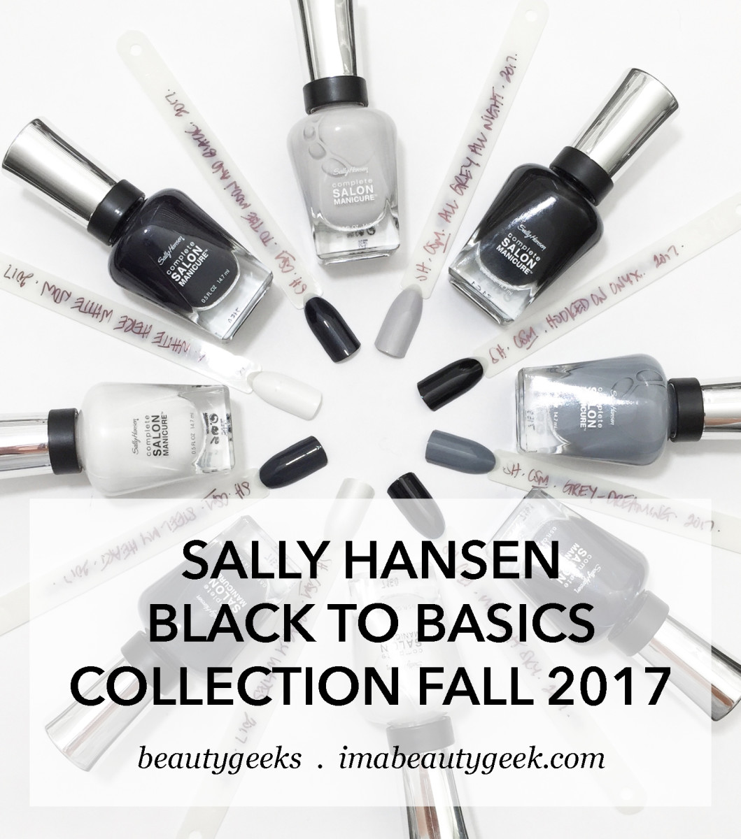 Sally Hansen Black to Basics Collection Swatches Fall 2017-BEAUTYGEEKS