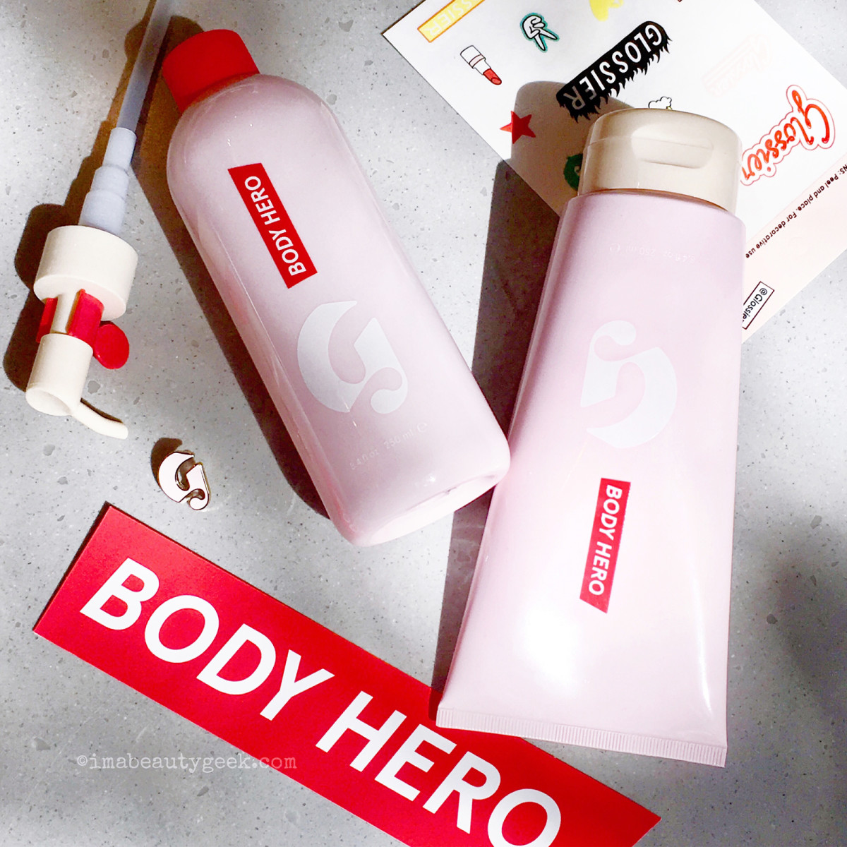Glossier Body Hero Daily Oil Wash and Daily Perfecting Cream