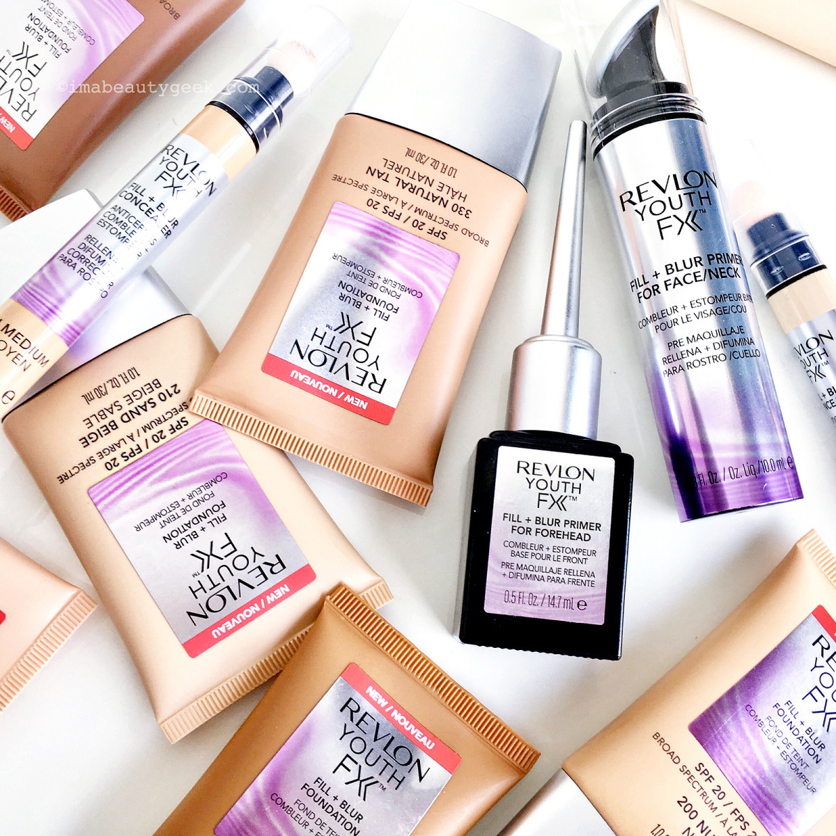 Revlon Youth FX Fill & Blur primers, foundations and concealers