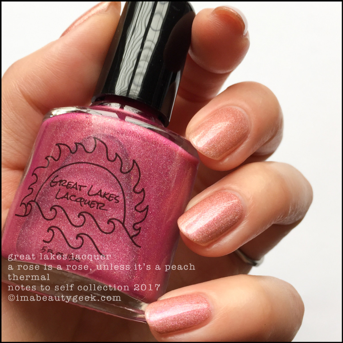 Great Lakes Lacquer A Rose is a Rose Unless It's a Peach 2 _ Great Lakes Lacquer Notes to Self Thermal Collection 2017