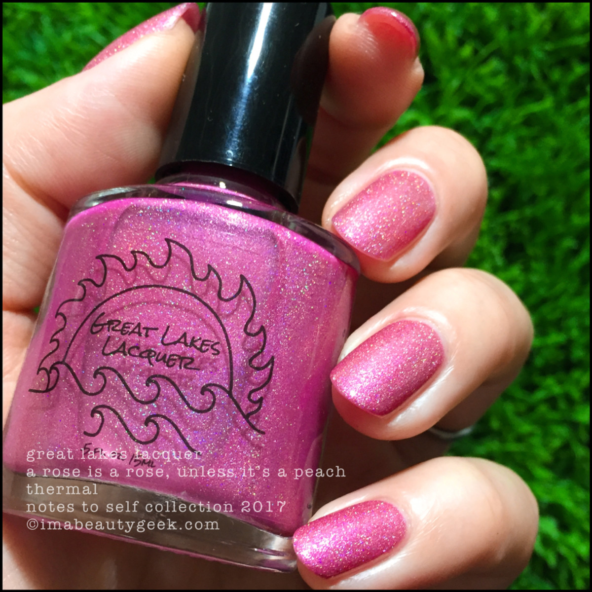 Great Lakes Lacquer A Rose is a Rose Unless It's a Peach 3 _ Great Lakes Lacquer Notes to Self Thermal Collection 2017
