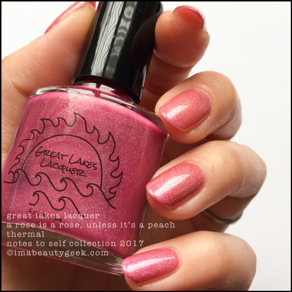 Great Lakes Lacquer A Rose is a Rose Unless It's a Peach 1 _ Great Lakes Lacquer Notes to Self Thermal Collection 2017