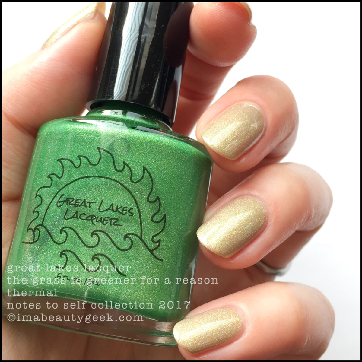 Great Lakes Lacquer The Grass is Greener for a Reason 2 _ Great Lakes Lacquer Notes to Self Thermal Collection 2017