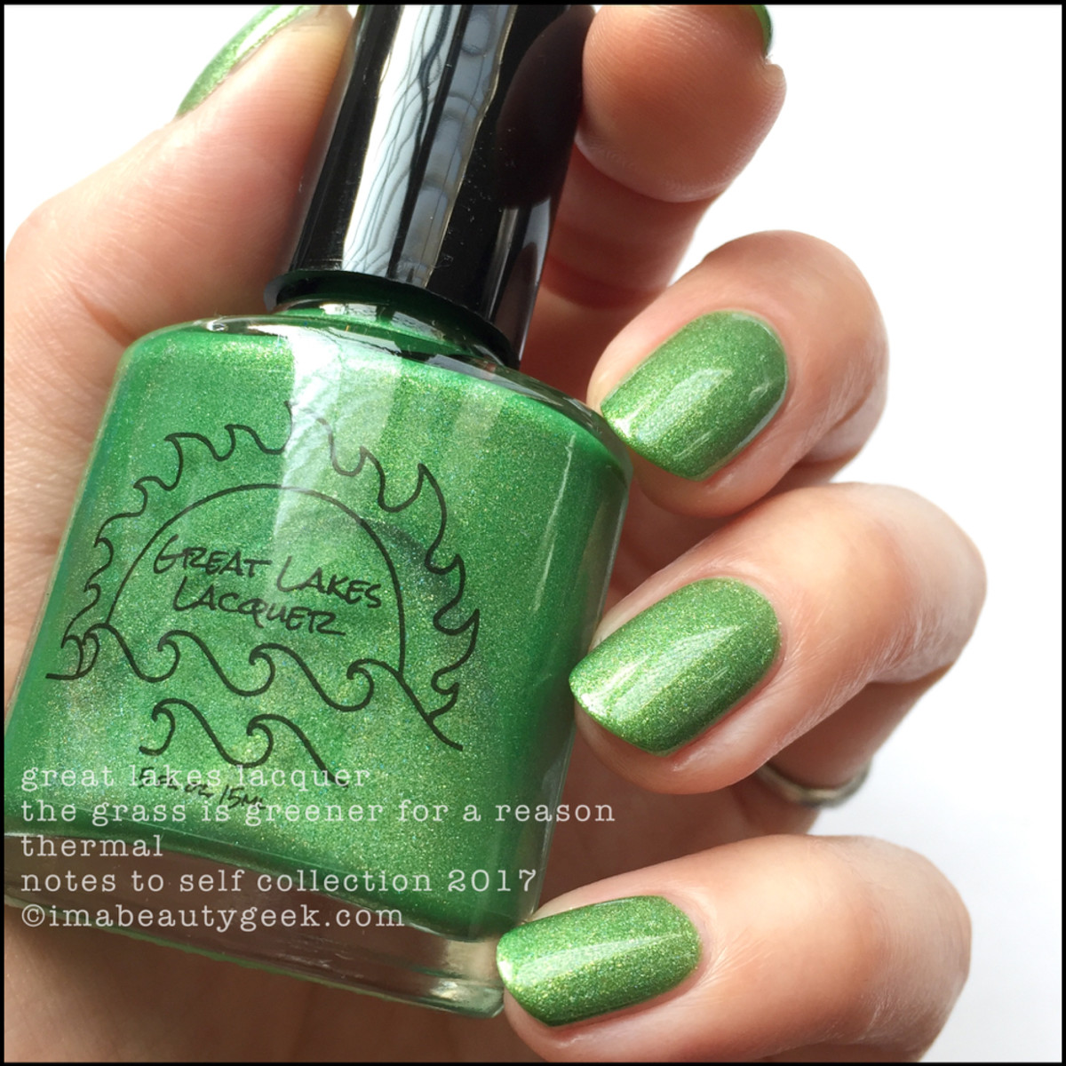 Great Lakes Lacquer The Grass is Greener for a Reason 1 _ Great Lakes Lacquer Notes to Self Thermal Collection 2017