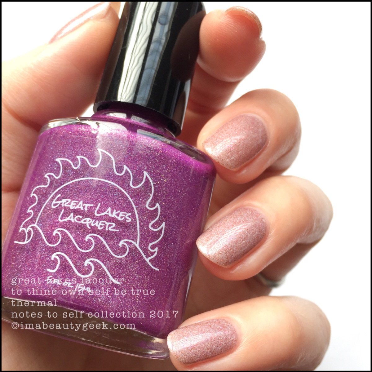 Great Lakes Lacquer To Thine Own Self Be True 2 _ Great Lakes Lacquer Notes to Self Thermal Collection 2017