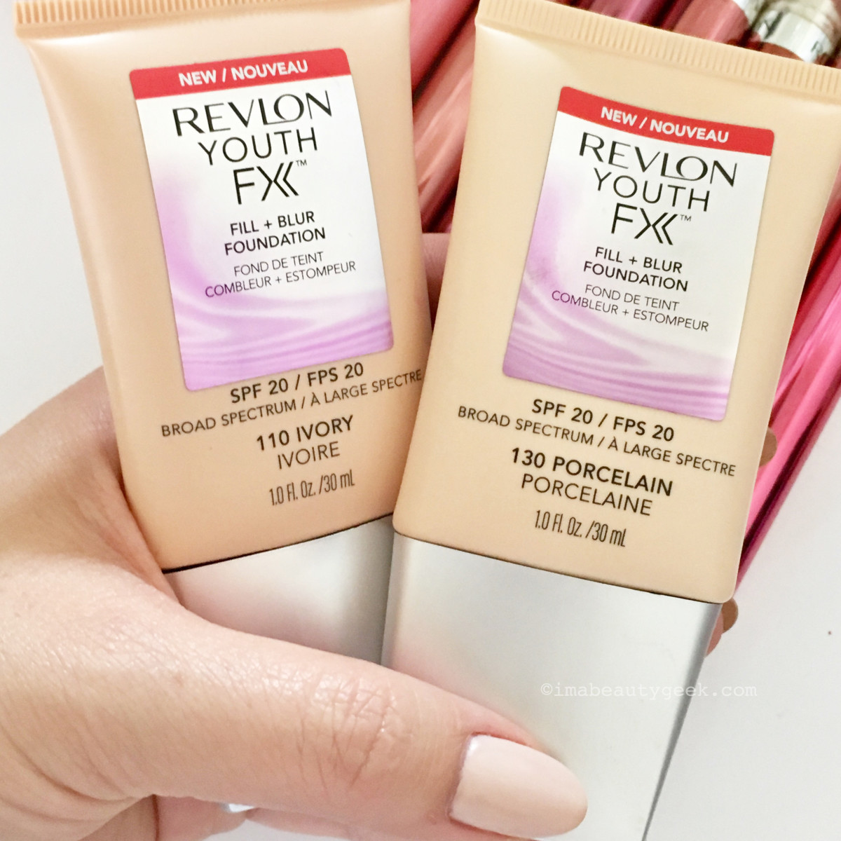 On set, makeup pro Sabrina Rinaldi blended these shades for my skin; on my own I use 200 Nude.
