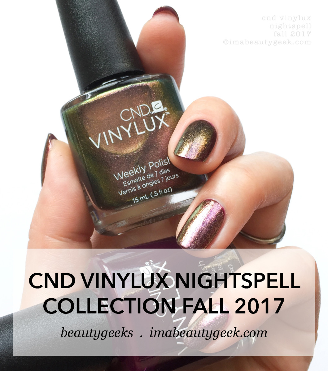CND Vinylux Nightspell Fall 2017 collection swatches & review-BEAUTYGEEKS