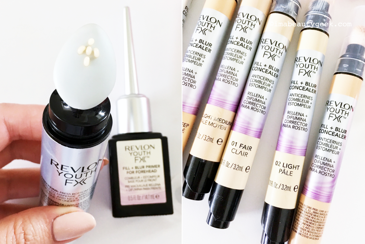 Revlon Youth FX primers for face/neck; Revlon Youth FX concealers-BEAUTYGEEKS