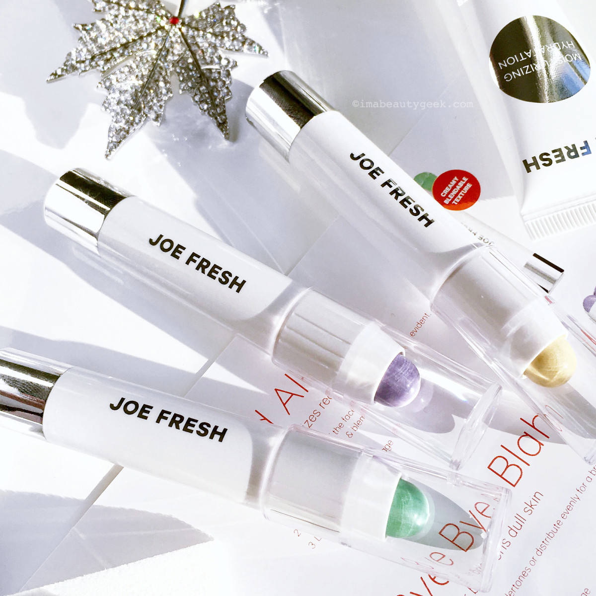 Joe Fresh Colour Correcting Crayons, Hydrating Primer and a Joe Fresh Cosmetic Wedge or two