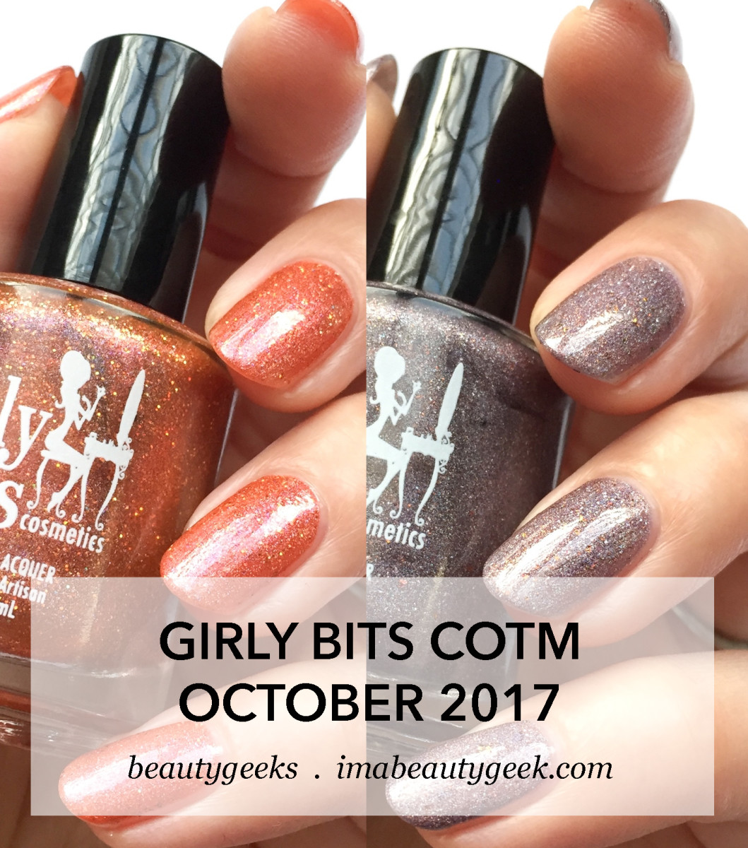Girly Bits COTM October 2017 swatches-BEAUTYGEEKS