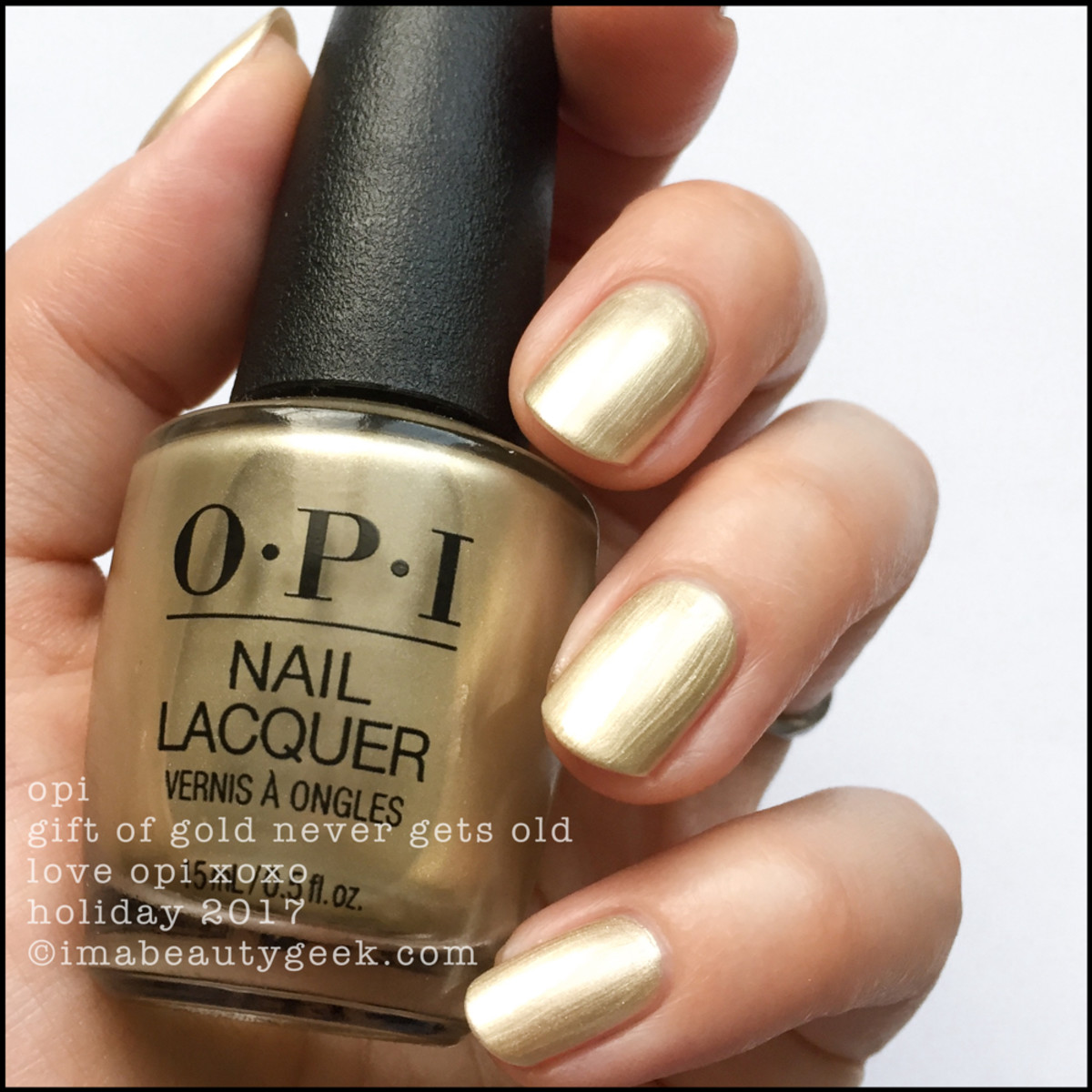 OPI Gift of Gold Never Gets Old 2 - Love OPI XOXO Holiday 2017 Collection