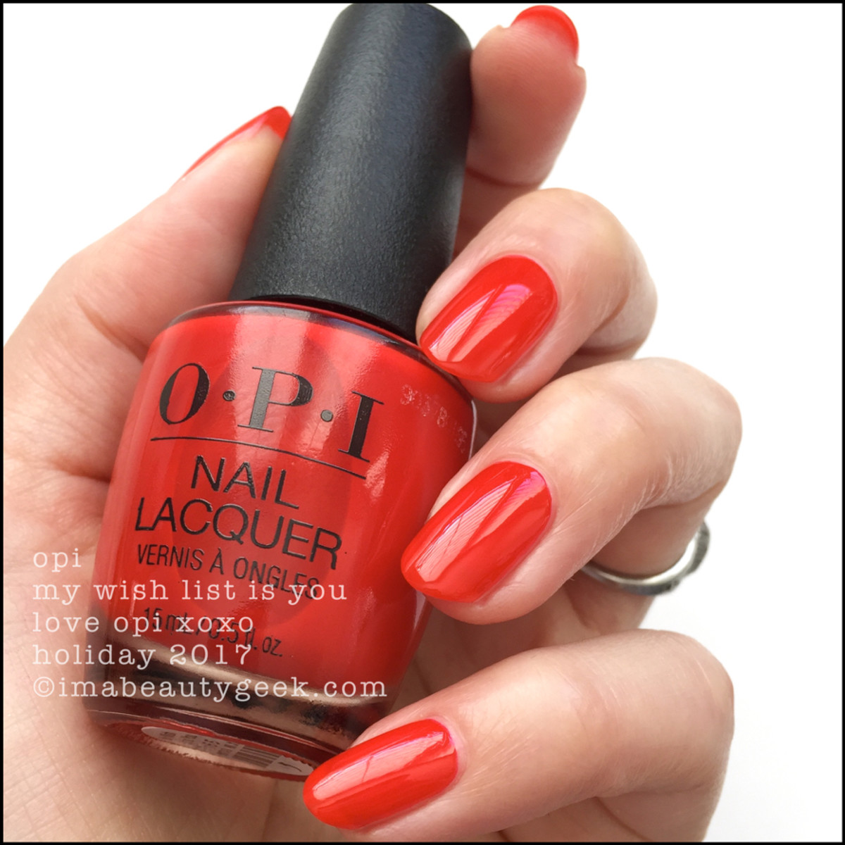 OPI My Wish List Is You - Love OPI XOXO Holiday 2017 Collection