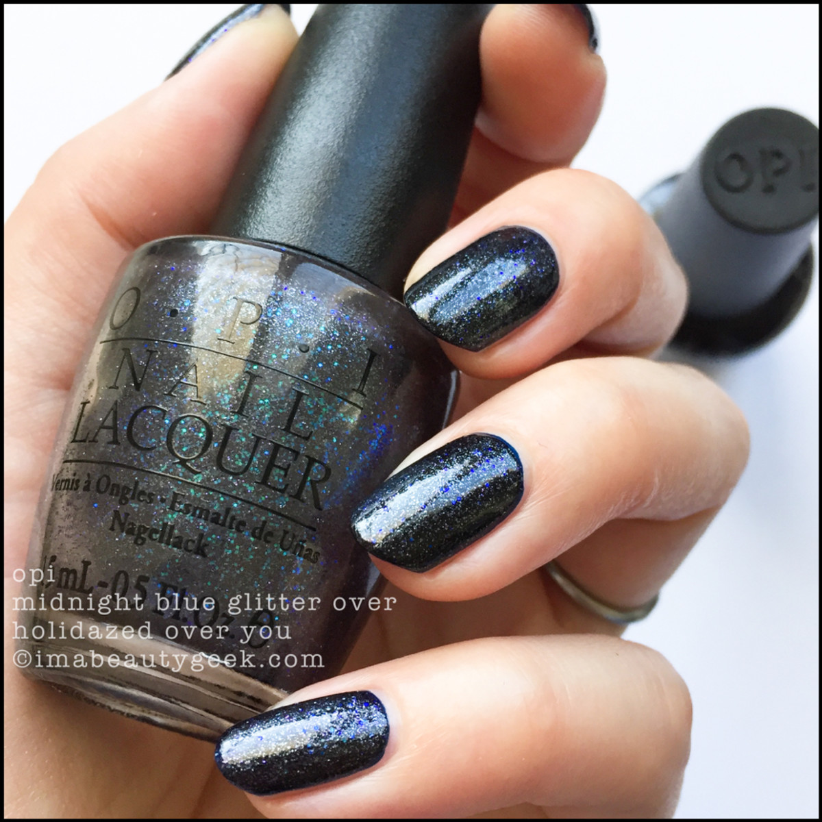 OPI Midnight Blue Glitter over Holidazed Over you - Love OPI XOXO Holiday 2017 Collection