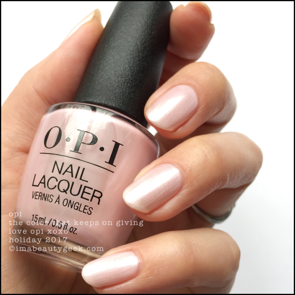 OPI The Color That Keeps on Giving - Love OPI XOXO Holiday 2017 Collection