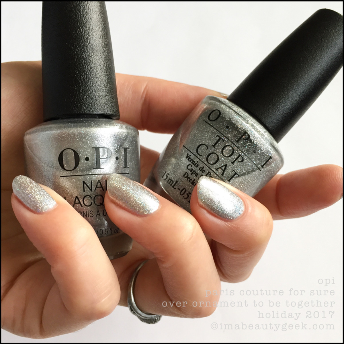 OPI Paris Couture For Sure over Ornament to be Together - Love OPI XOXO Holiday 2017 Collection