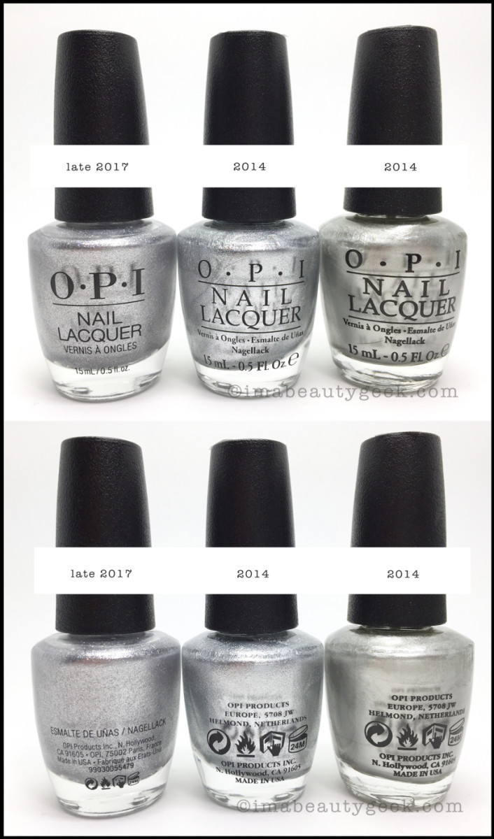 New OPI Bottle Labels 2017 Front Back