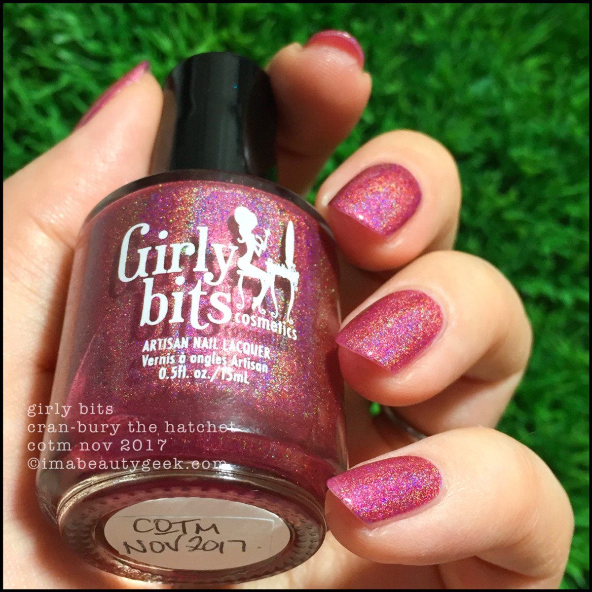 Girly Bits Cran-bury The Hatchet COTM 4 _ Girly Bits LE Colour of the Month Nov 2017
