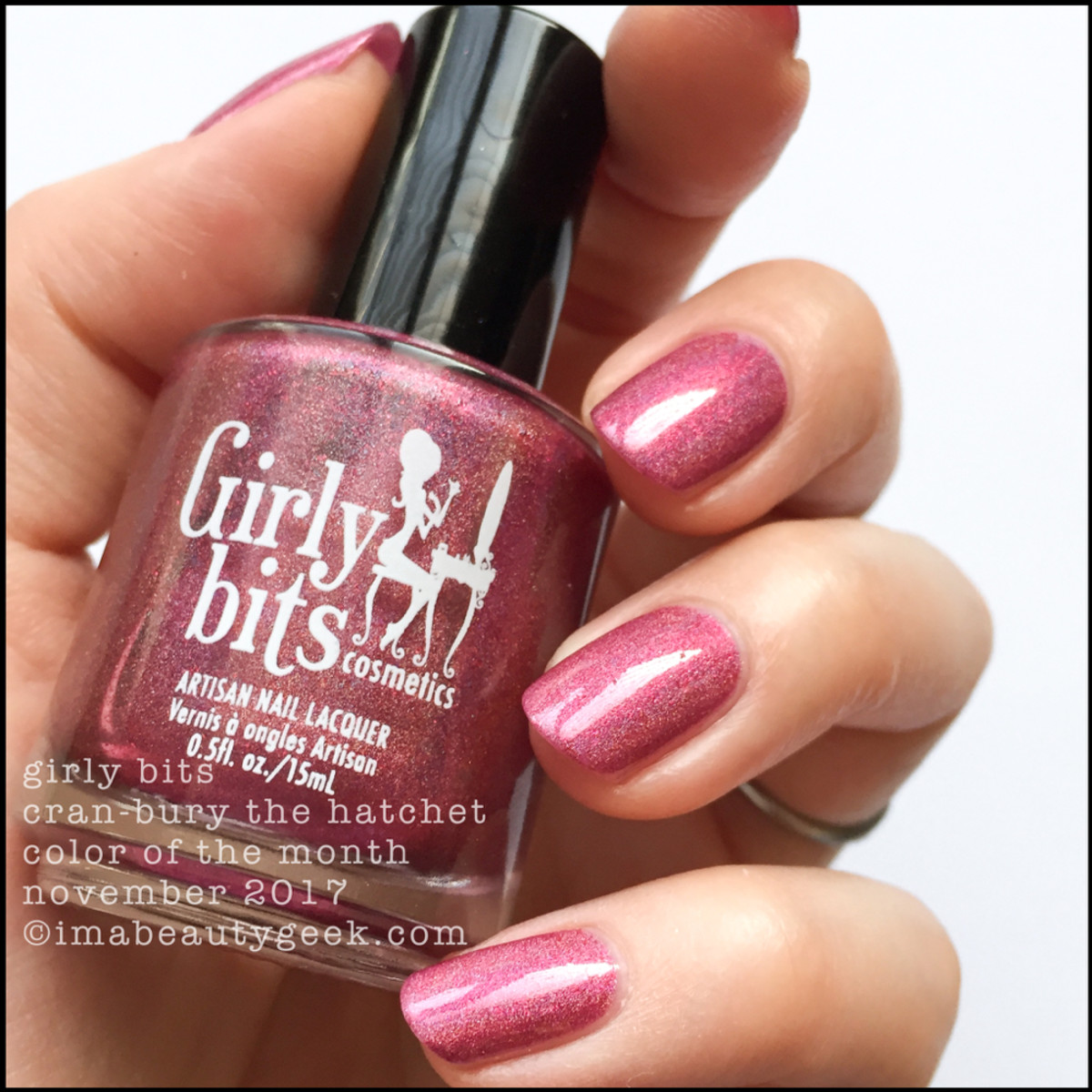 Girly Bits Cran-bury The Hatchet COTM _ Girly Bits LE Colour of the Month Nov 2017