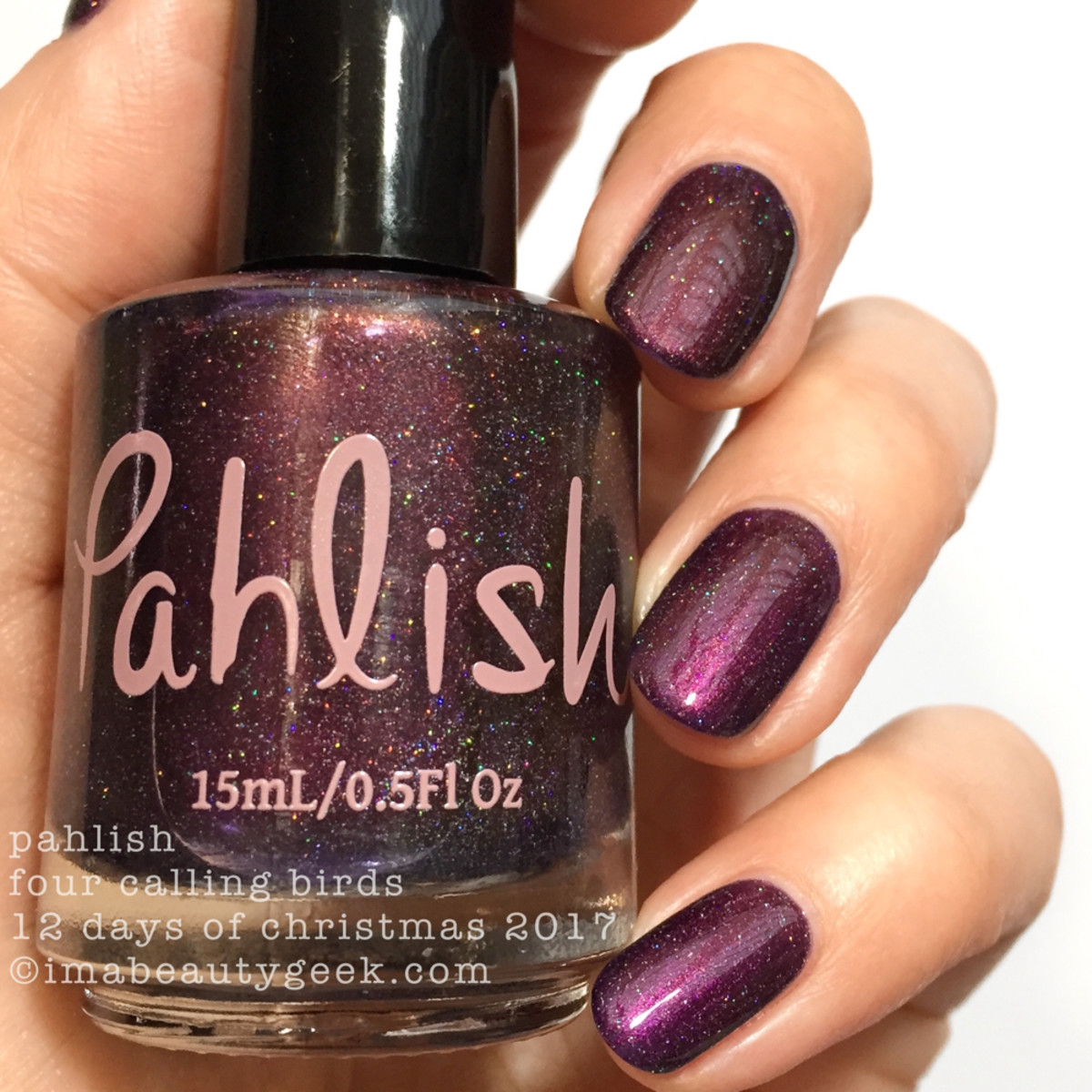 Pahlish Four Calling Birds - Pahlish 12 Days of Christmas 2017 2