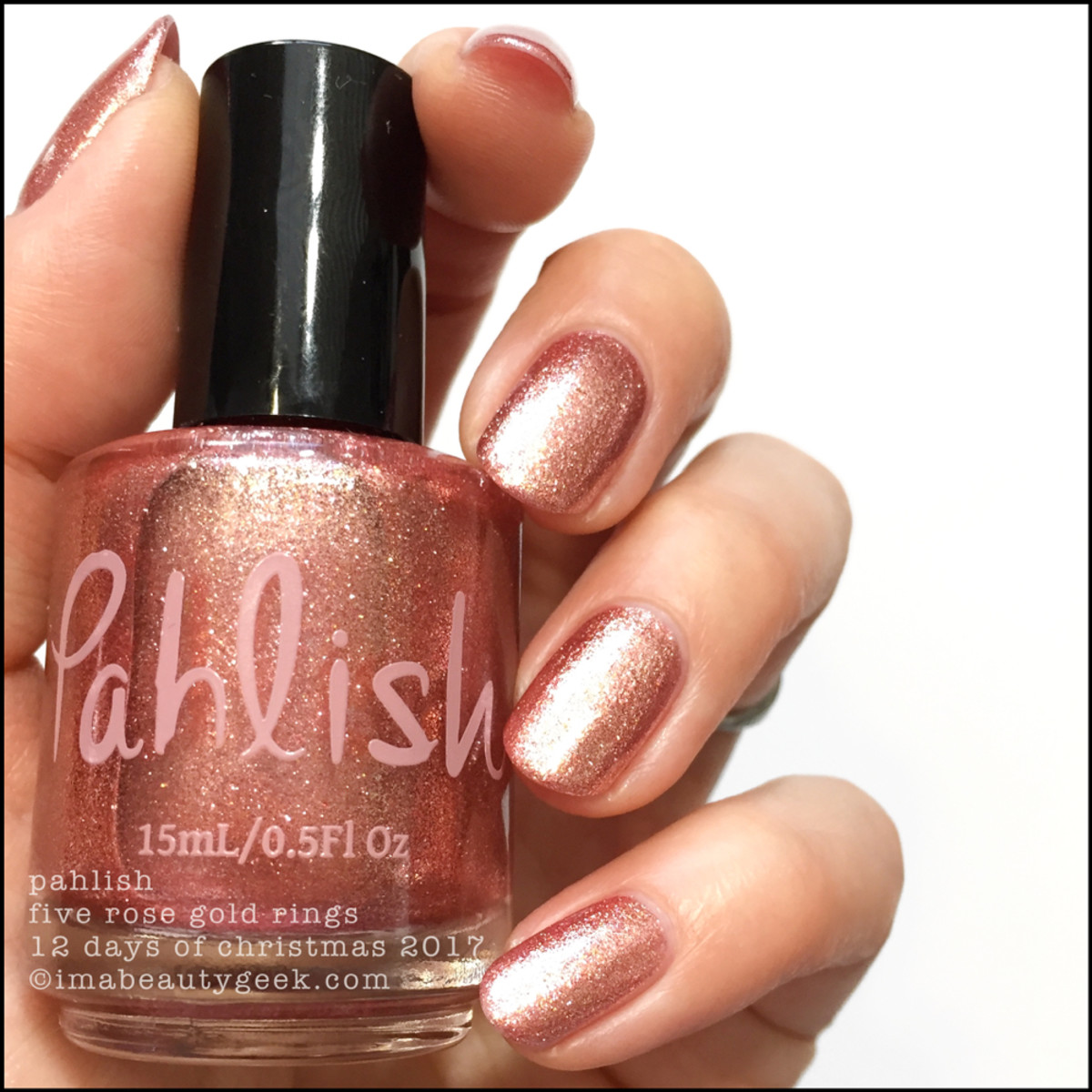 Pahlish Five Rose Gold Rings - Pahlish 12 Days of Christmas 2017 1
