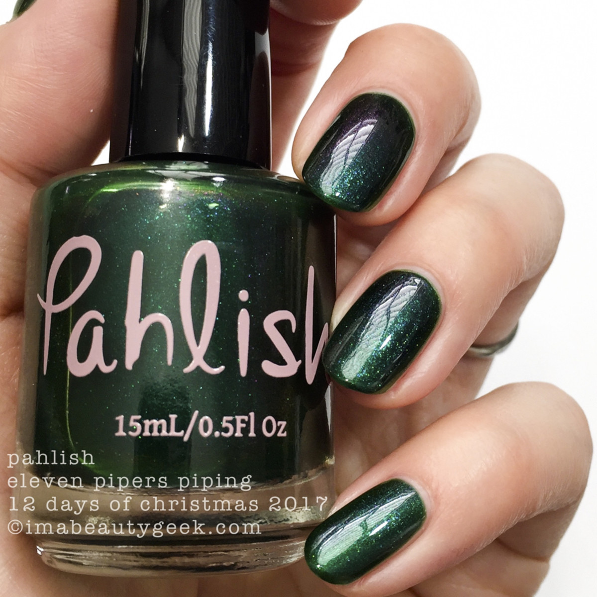 Pahlish Eleven Pipers Piping - Pahlish 12 Days of Christmas 2017 2