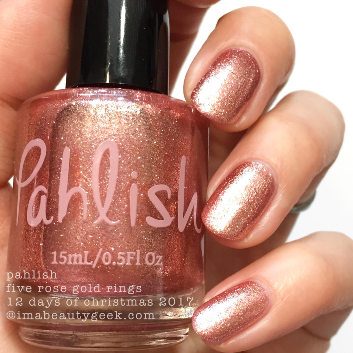 Pahlish Five Rose Gold Rings - Pahlish 12 Days of Christmas 2017 2