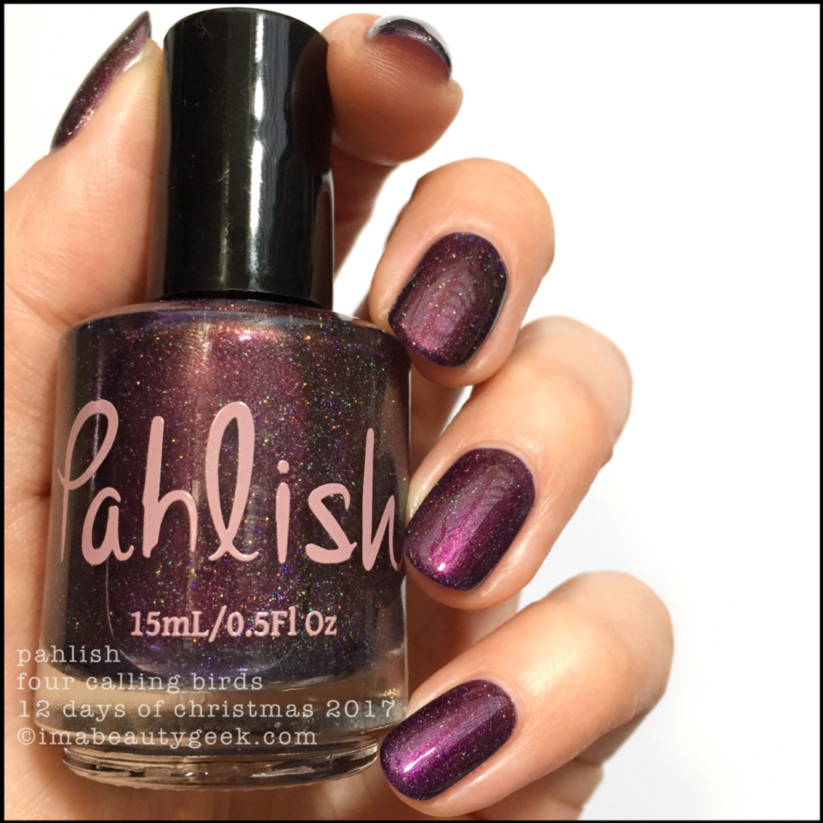 Pahlish Four Calling Birds - Pahlish 12 Days of Christmas 2017 1