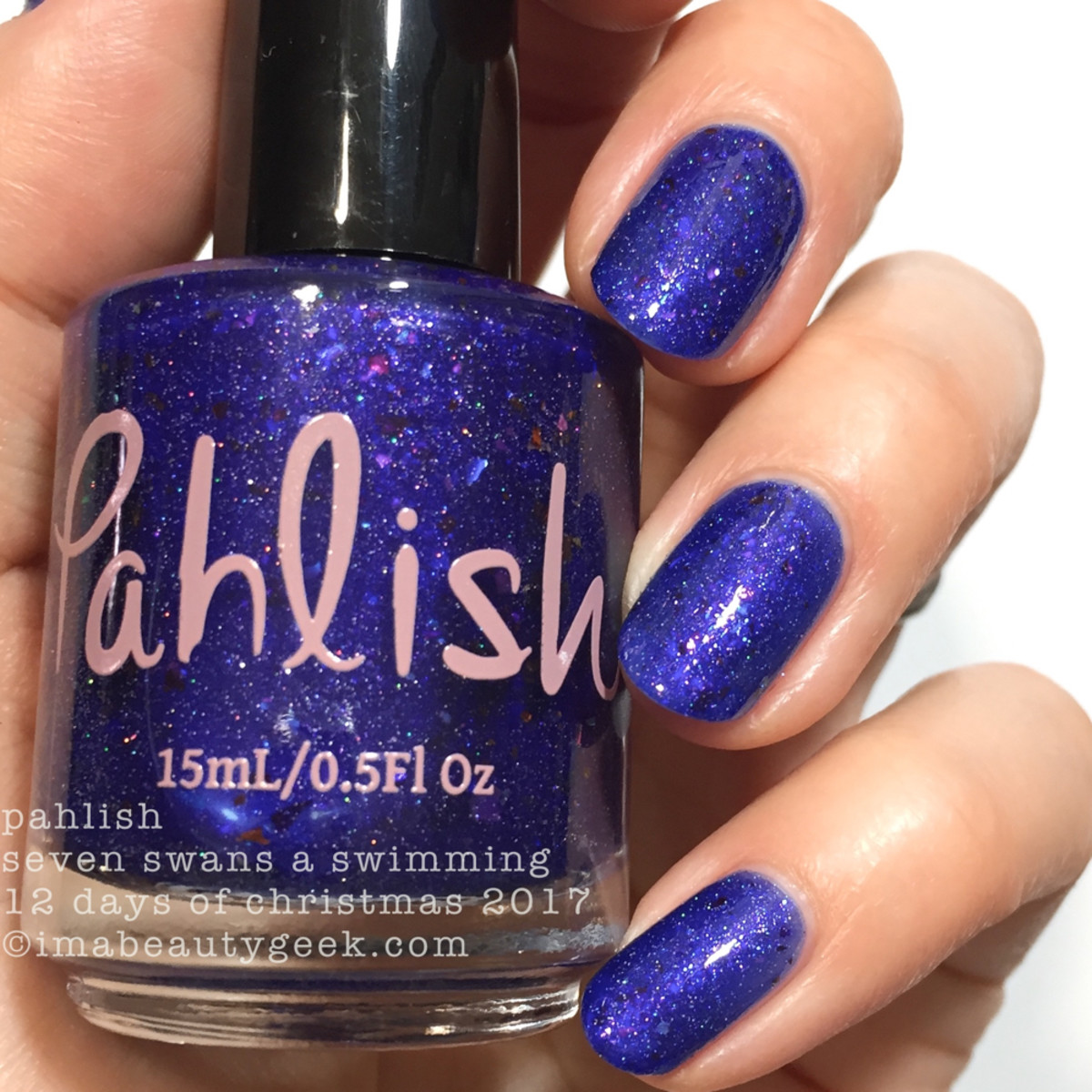 Pahlish Seven Swans a Swimming - Pahlish 12 Days of Christmas 2017 2
