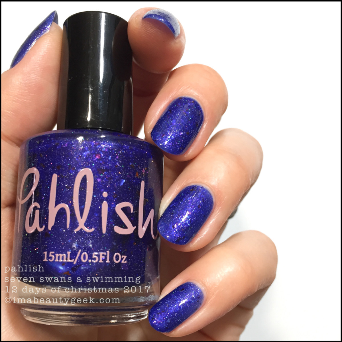 Pahlish Seven Swans a Swimming - Pahlish 12 Days of Christmas 2017 1