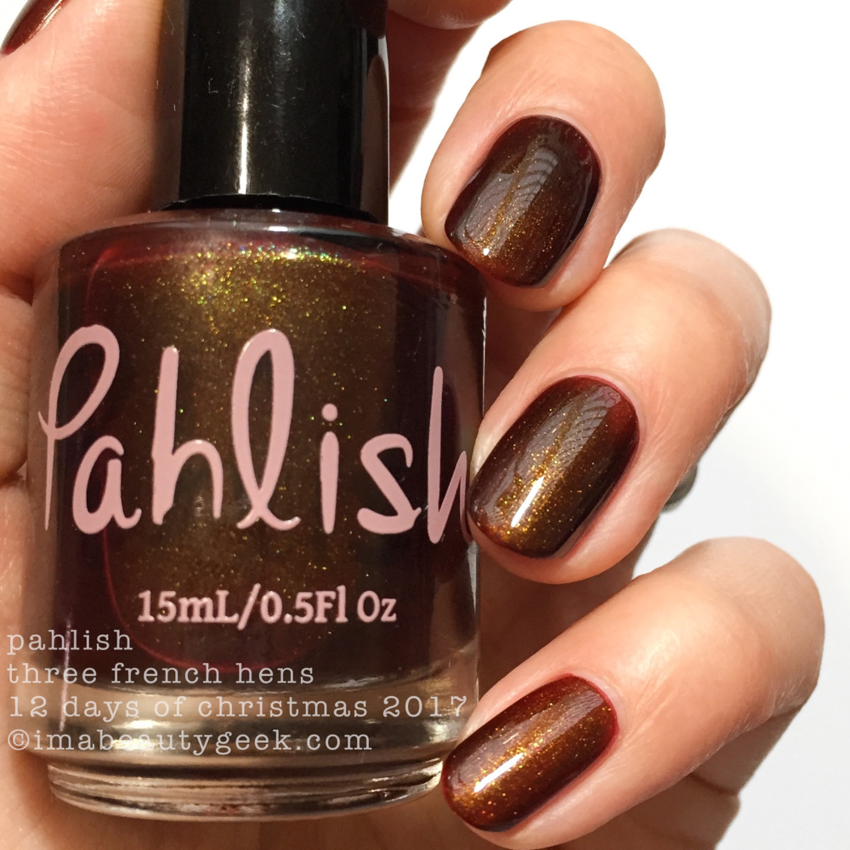 Pahlish Three French Hens - Pahlish 12 Days of Christmas 2017 2