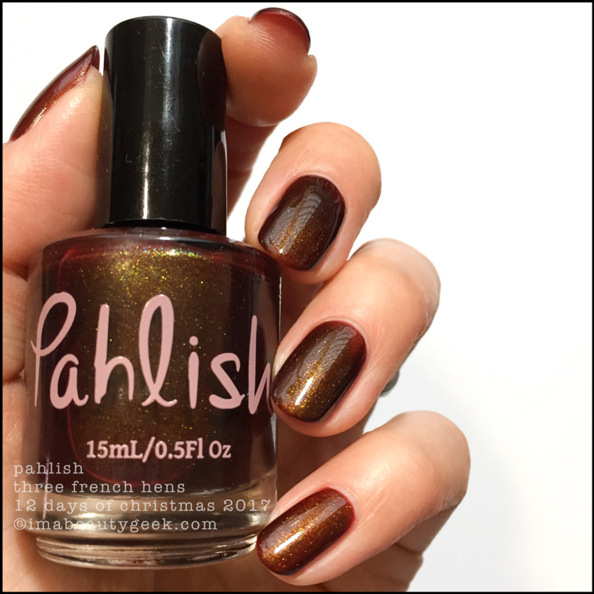 Pahlish Three French Hens - Pahlish 12 Days of Christmas 2017 1