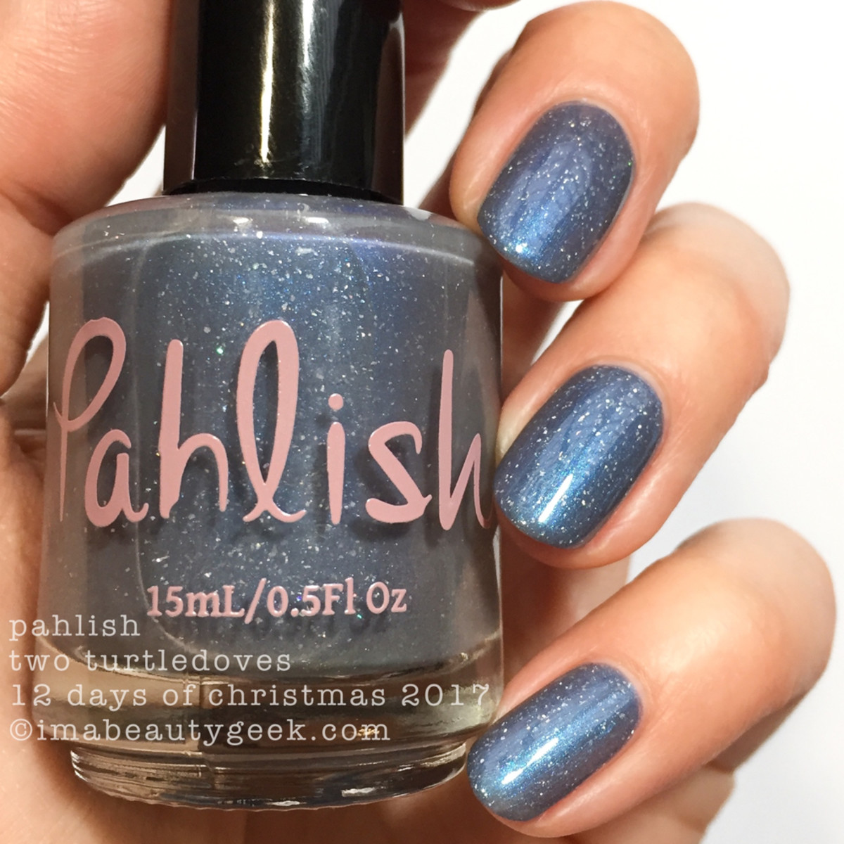 Pahlish Two Turtledoves - Pahlish 12 Days of Christmas 2017 2