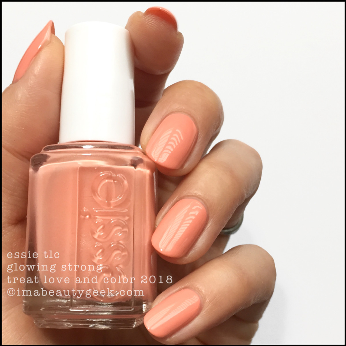Essie TLC Glowing Strong _ Essie Treat Love Color Swatches 2018 Shade Expansion