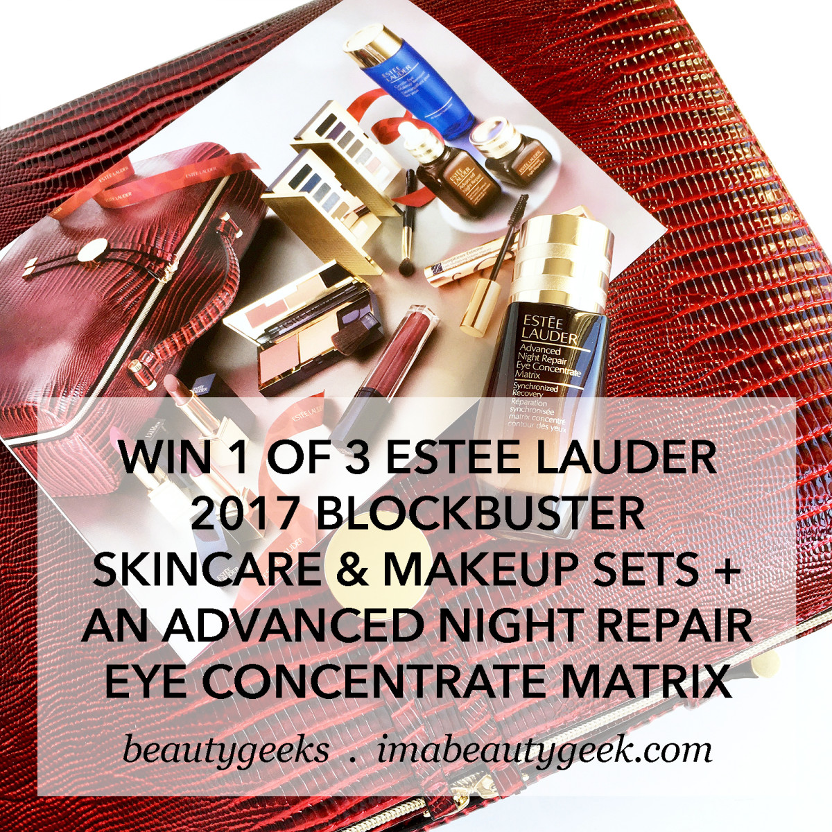 Giveaway: Estee Lauder 2017 Holiday Blockbuster Smoky Noir Set + ANR Eye Concentrate Matrix-BEAUTYGEEKS