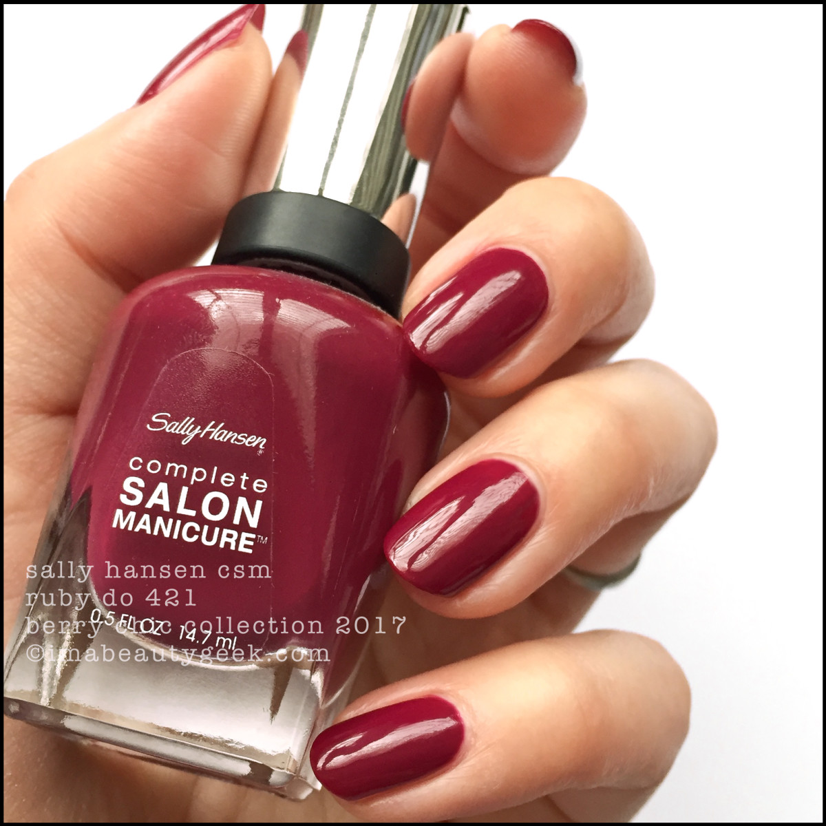 Sally Hansen Ruby Do CSM _ Sally Hansen Berry Chic Collection Swatches Holiday 2017