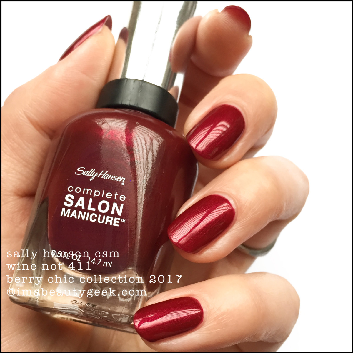 Sally Hansen Wine Not CSM _ Sally Hansen Berry Chic Collection Swatches Holiday 2017
