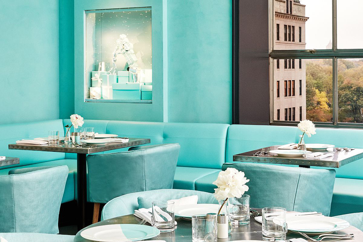 The Tiffany Blue Box Café in NYC