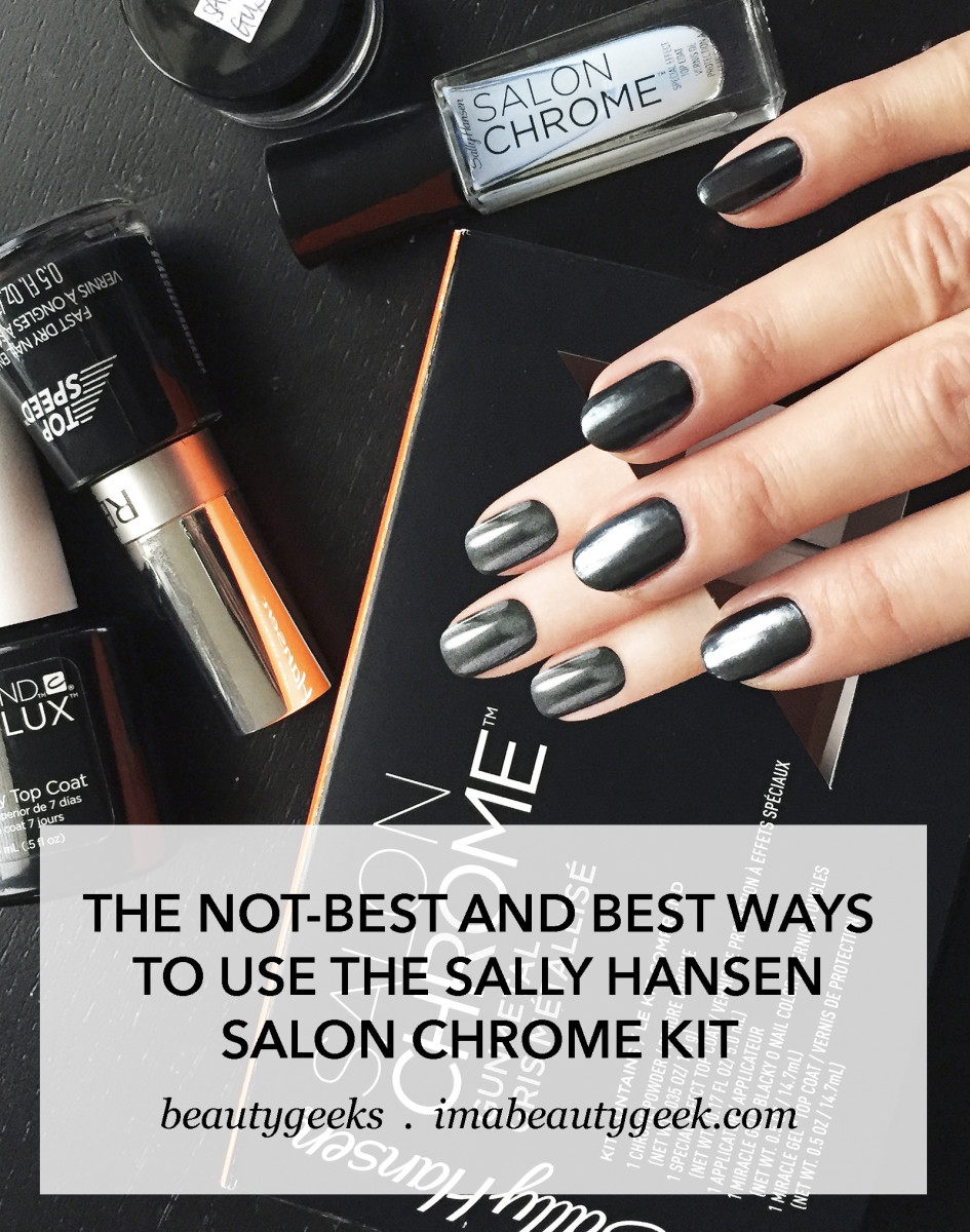 Sally Hansen Salon Chrome Kit: the NOT best and the best ways to DIY Chrome Nails-BEAUTYGEEKS