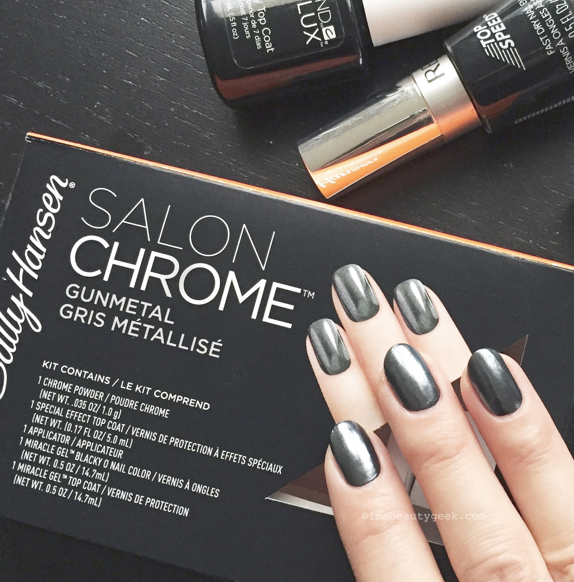 HOW TO DIY CHROME NAILS AT HOME OVER REGULAR NAIL POLISH - Beautygeeks