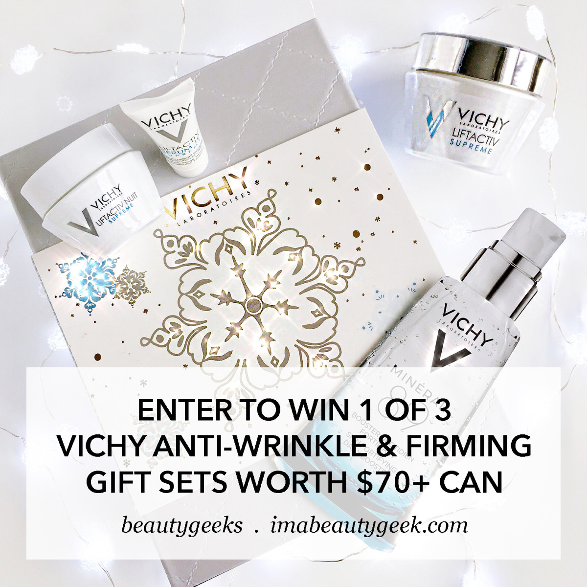 Win 1 of 3 Vichy Skincare Gift Sets worth $70+ CAD-BEAUTYGEEKS