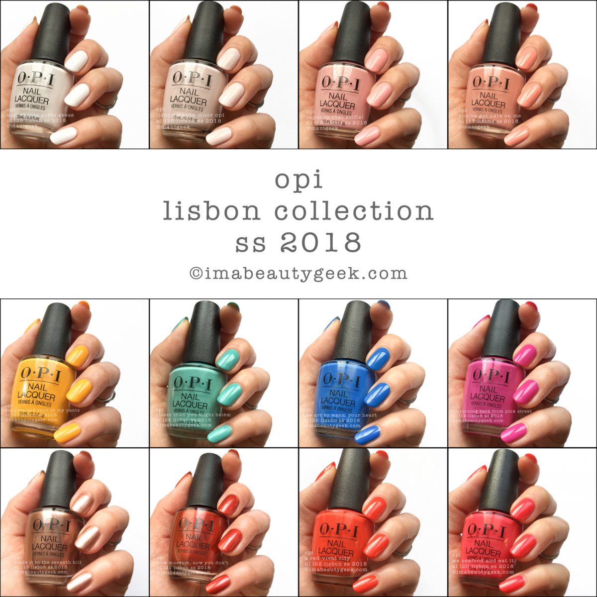 OPI Lisbon Collection Swatches Review SS 2018 Beautygeeks Composite
